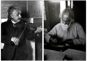 Albert Einstein and Rabindranath Tagore Dated Between the years 1922 and 1931)